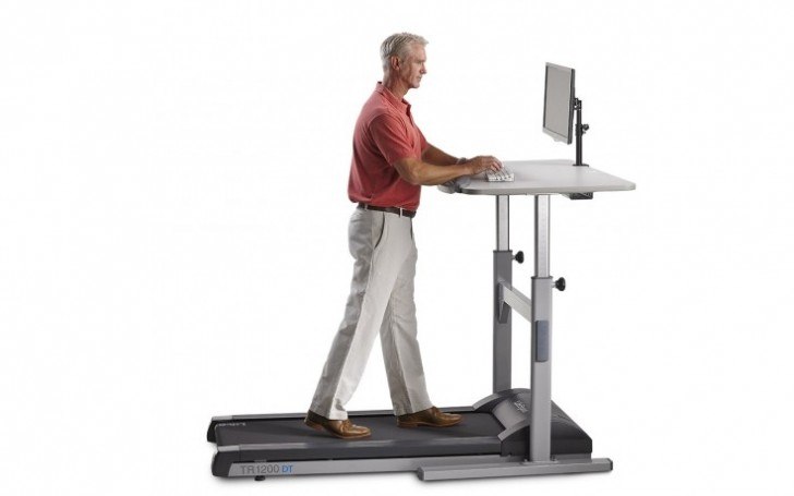 """Picture of TR1200-DT5 Treadmill Desk 38"""""""