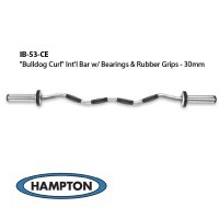 """Bulldog Curl"" International Bar w/ Bronze Bushing & Urethane Grips (30mm)"